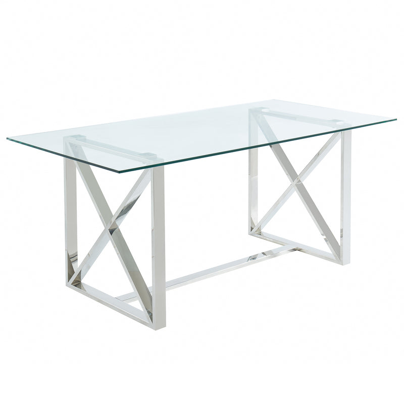Lorenzo Rectangular Dining Table in Silver