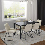 Contra Rectangular Dining Table in Black