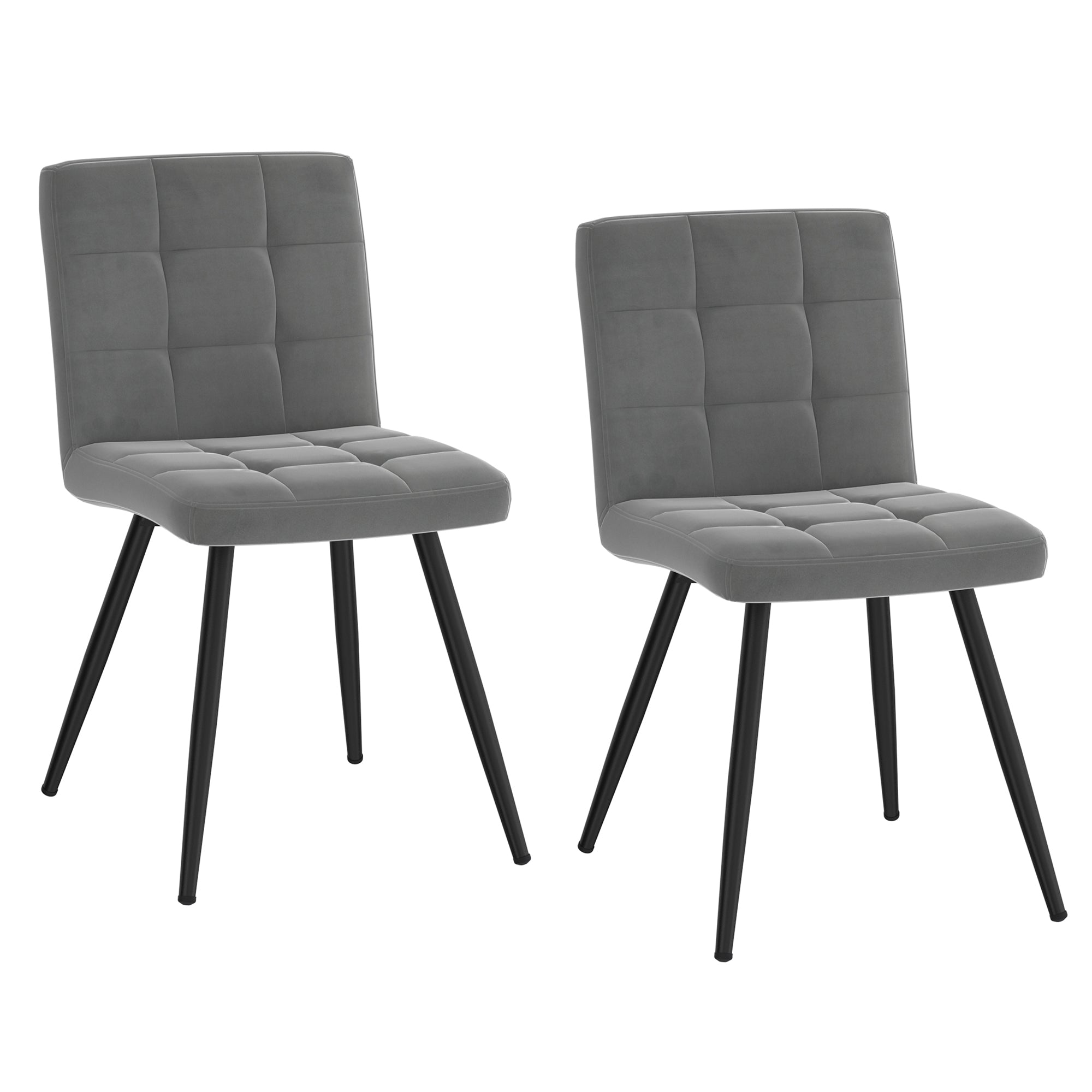 Suzette Side Chair, set of 2 in Grey