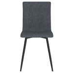 Nora Side Chair, set of 4 in Blue-Grey with Black Leg