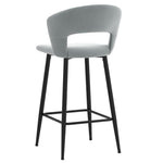 Camille 26'' Counter Stool, set of 2 in Light Grey