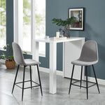 Onio 26'' Counter Stool, set of 2 in Grey/Black Legs
