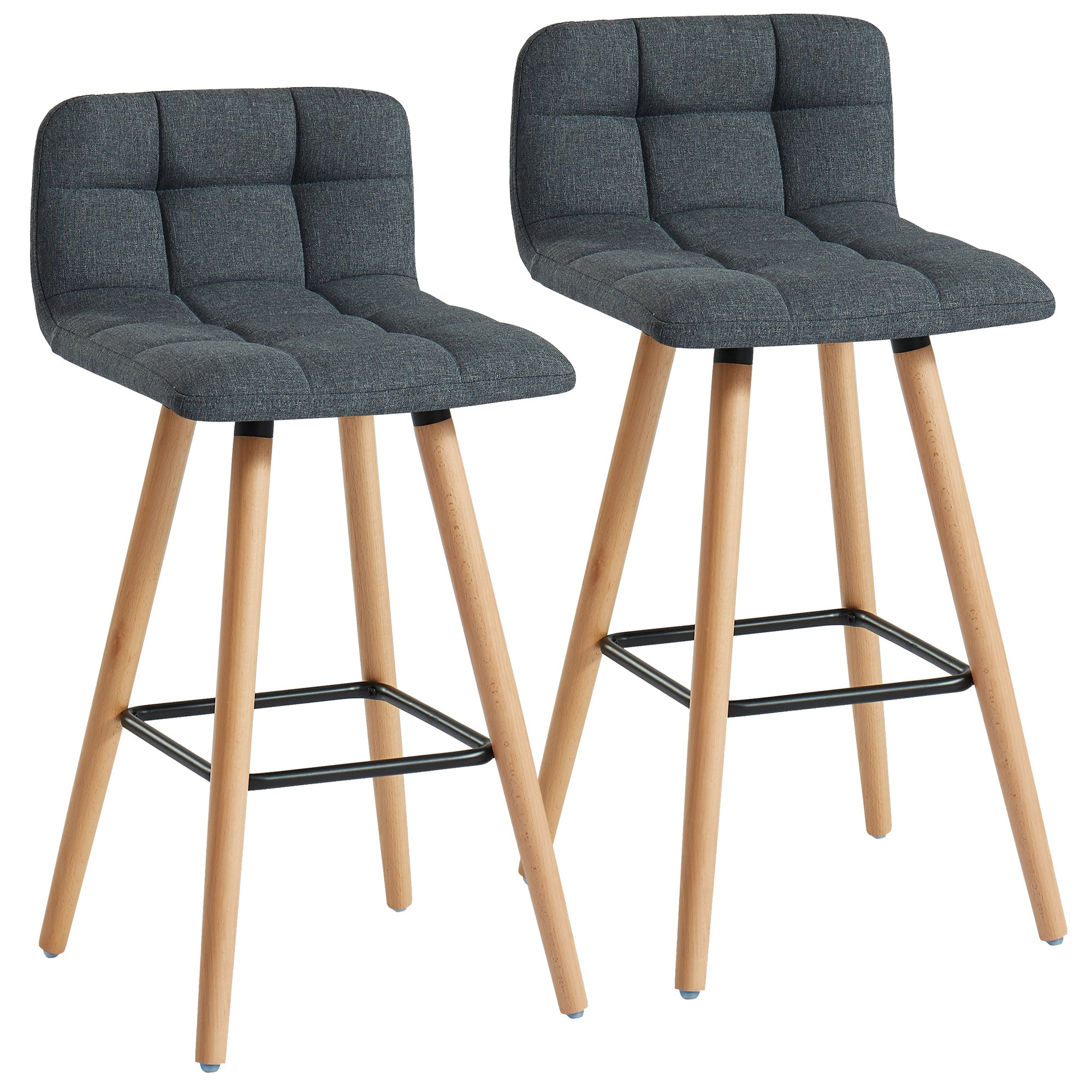 Rico 26'' Counter Stool, set of 2 in Charcoal