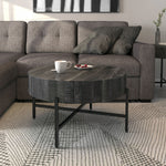 Blox Round Coffee Table in Grey