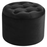 Talia Round Storage Ottoman in Black