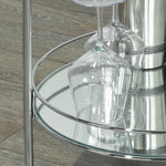 Neema 2-Tier Bar Cart in Chrome