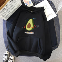 Load image into Gallery viewer, Cartoon Avocado Pullover Hoodie - black / S - Sports &