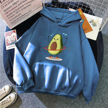 Load image into Gallery viewer, Cartoon Avocado Pullover Hoodie - haze blue / S - Sports &