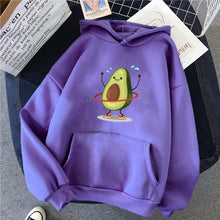 Load image into Gallery viewer, Cartoon Avocado Pullover Hoodie - purple / S - Sports &