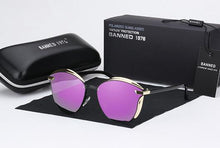 Load image into Gallery viewer, Luxury Round Oversized Women's Sunglasses - Purple - round