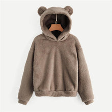 Load image into Gallery viewer, Women's Plush Teddy Hoodie - plush teddy hoodie