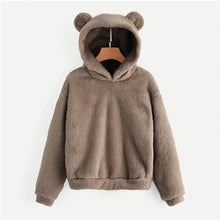Load image into Gallery viewer, Women's Plush Teddy Hoodie - Brown / XL - plush teddy hoodie