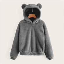 Load image into Gallery viewer, Women's Plush Teddy Hoodie - Gray / L - plush teddy hoodie
