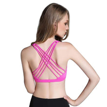 Load image into Gallery viewer, Women's Push Up Sports Bra with Open Back - & Entertainment