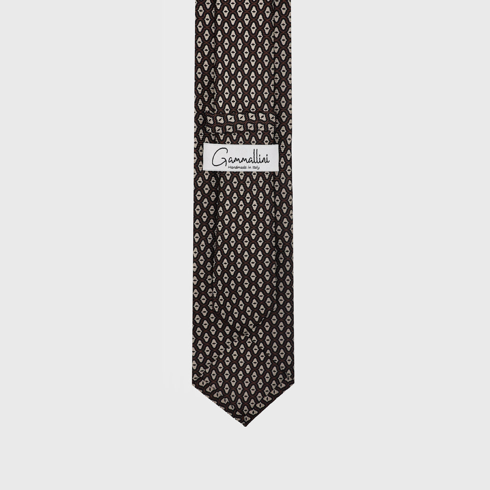 Load image into Gallery viewer, Mother of Pearl I Handmade Italian Tie I Choco Brown-Beige-Light Brown