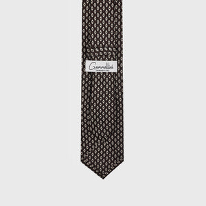 Load image into Gallery viewer, Mother of Pearl I Self-tipped Tie I Choco Brown-Beige-Light Brown