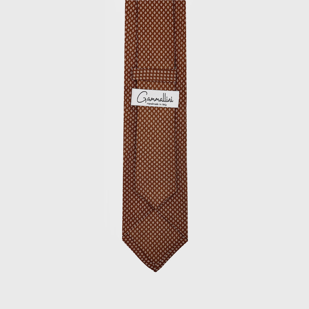 Load image into Gallery viewer, Connect the Dots I Self-tipped Tie I Choco Brown - Beige
