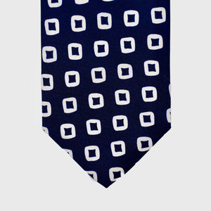 Load image into Gallery viewer, Diamonds are Forever I Self-tipped Tie I Midnight Blue-White