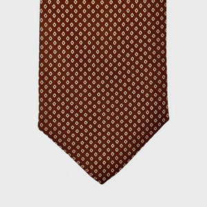 Load image into Gallery viewer, Connect the Dots I Choco Brown-Beige ( Handmade Italian Tie