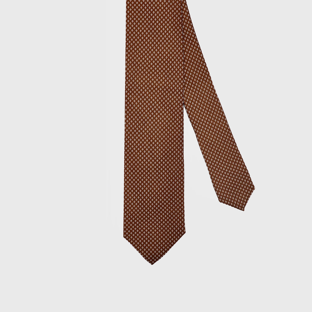 Connect the Dots I Choco Brown-Beige ( Handmade Italian Tie