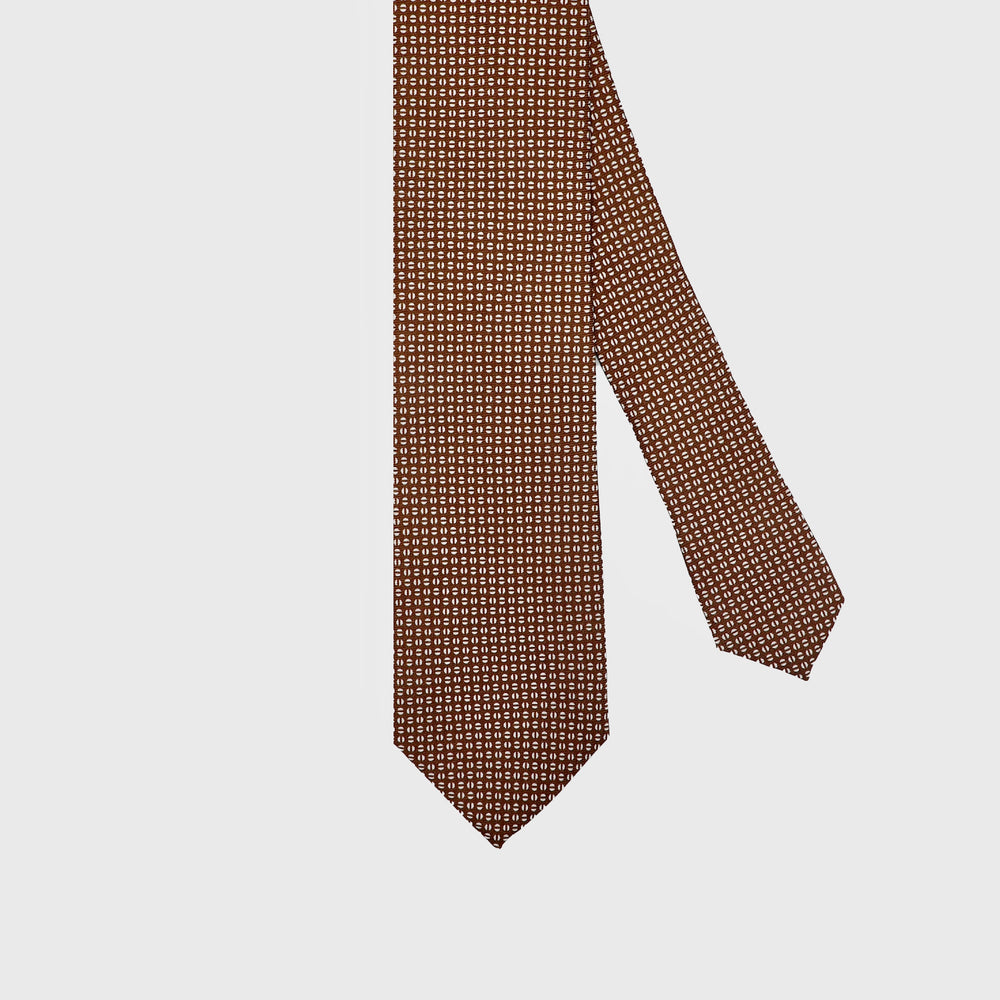 Load image into Gallery viewer, Coffee Beans I Self-tipped Tie I Choco Brown - Beige