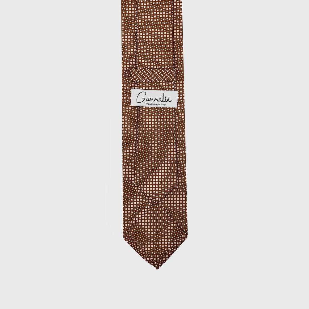Load image into Gallery viewer, Coffee Beans I Choco Brown-Beige  I Handmade Italian Tie