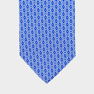 Load image into Gallery viewer, Mother of Pearl Shell I Handmade Italian Tie I Sky Blue-Ecru