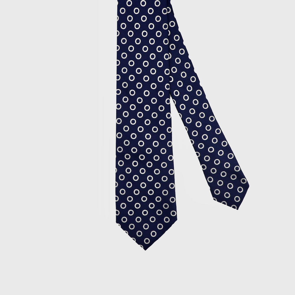 Load image into Gallery viewer, Rising Spheres I Handmade Italian Tie I Navy Blue-White