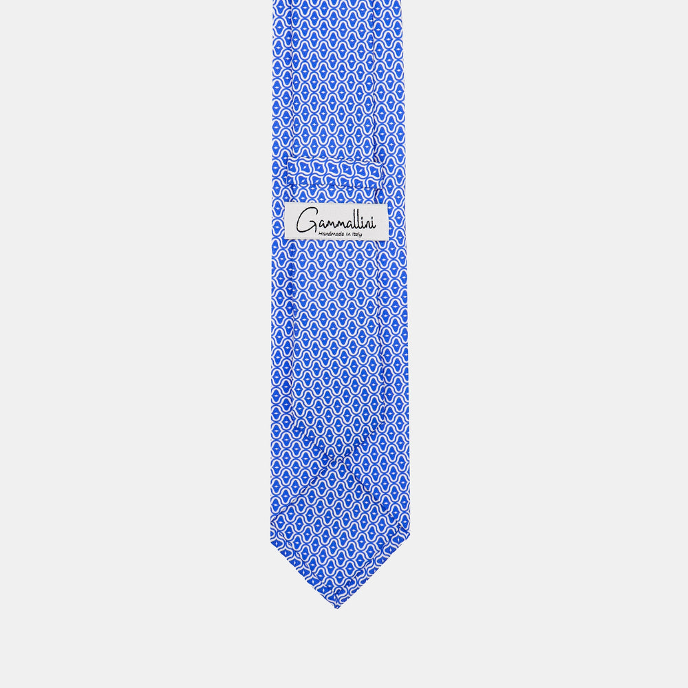 Load image into Gallery viewer, Mother of Pearl Shell I Italian Handmade Tie I Sky Blue-Ecru