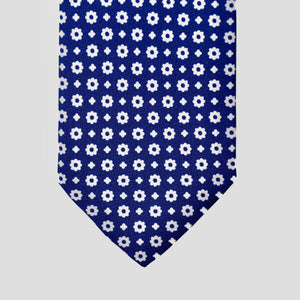 Load image into Gallery viewer, Flower Power I Handmade Italian Tie I Navy Blue-White