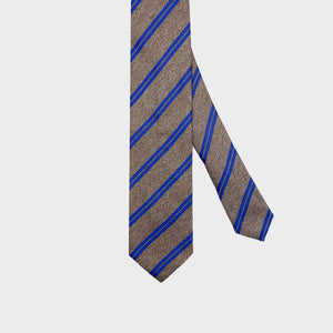 Load image into Gallery viewer, Stripes I Handmade Italian Tie I Beige-Light Blue