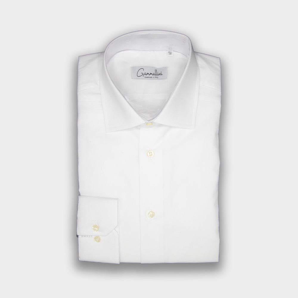Gammallini White Fit Shirt I Handmade in Italy