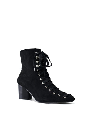 Super Cute Black Lace Up Boot