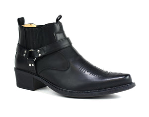 Men's Mid Top Cowboy Boots Black