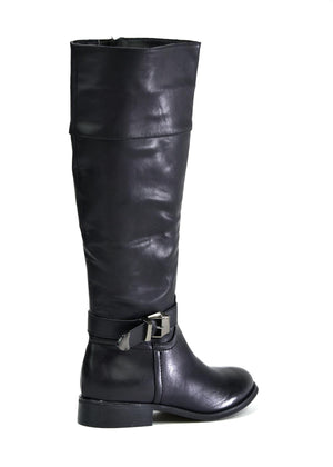Women's Classic Zip Up Calf Boot Black