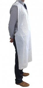 Disposable Plastic 100% Virnyl CPE HPDE Apron - Sleeveless (Pack of 100)