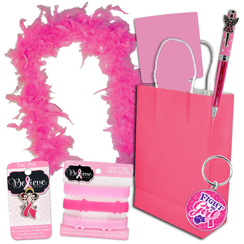 7-Piece Pink Ribbon Gift Bag