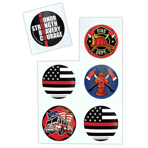 Firefighter Sticker Sheet Pack
