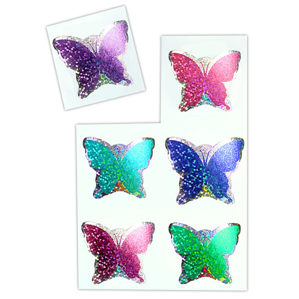 Sparkle Butterfly Stickers
