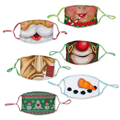 Adult Size Polyester Masks - 6 Pack