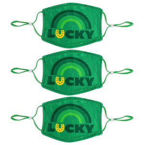 Adult St. Patrick's Day 3 Pack Mask Set - Lucky