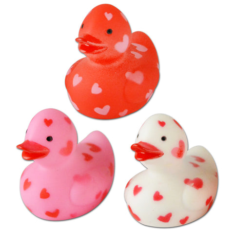 Mini Heart Spotted Rubber Ducks