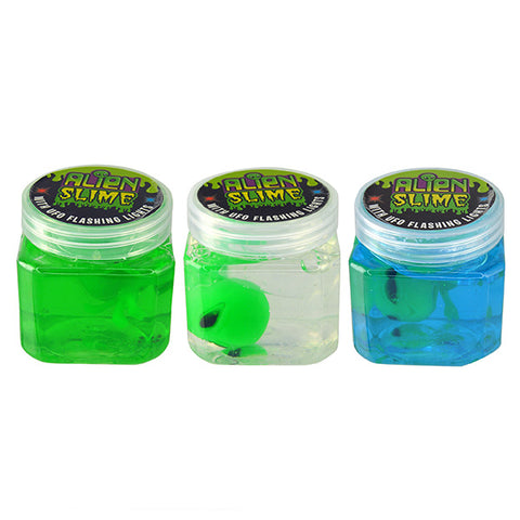 Alien Slime with UFO Flashing Lights