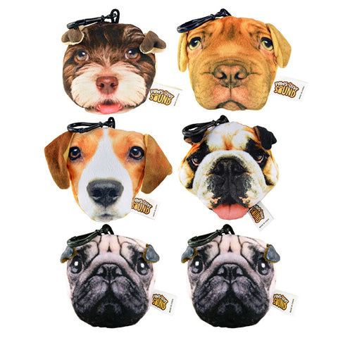 Stuffed Dog Sound Backpack Clips