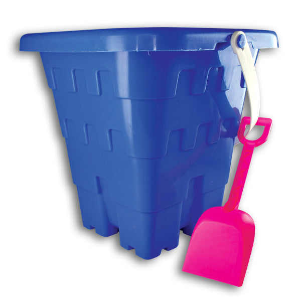 Square Sand Castle Buckets with Shovels