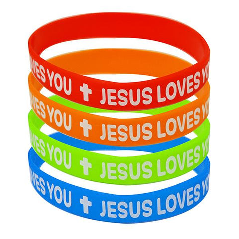 """Jesus Loves You"" Wristbands"