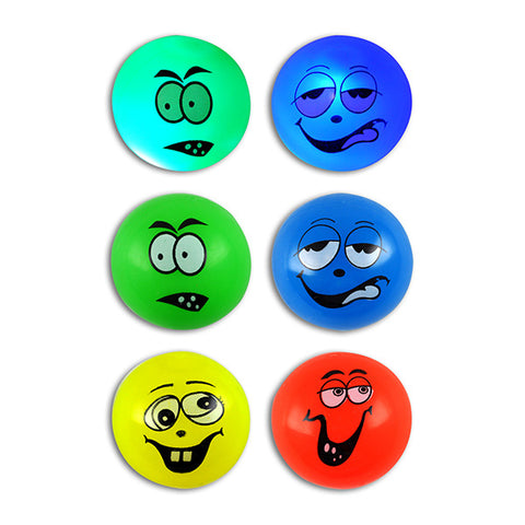 Neon Light-Up Goofy Face Bounce Balls