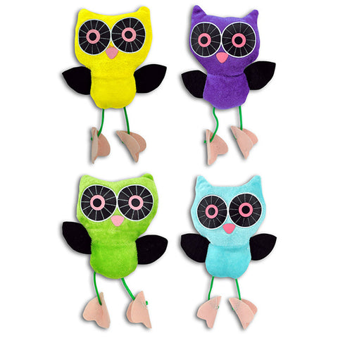Stuffed Owls with Dangling Feet