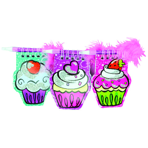 Cupcake Notepads With Pen