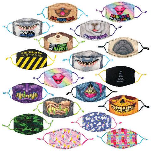 Polyester Child Size Printed Face Mask